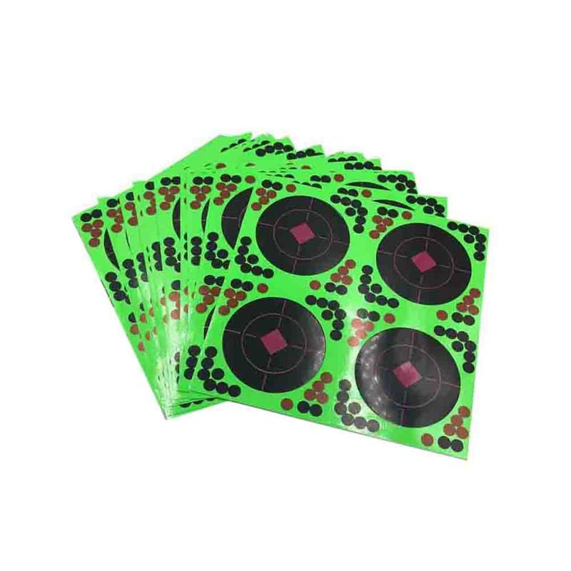 Giá Cực Tốt Khi Mua 25 Sticks Pack Targets Sticks Reactive Adhesive Splash Flower Target Paper 20X20cm Firing Target High Visibility Fluorescent Green