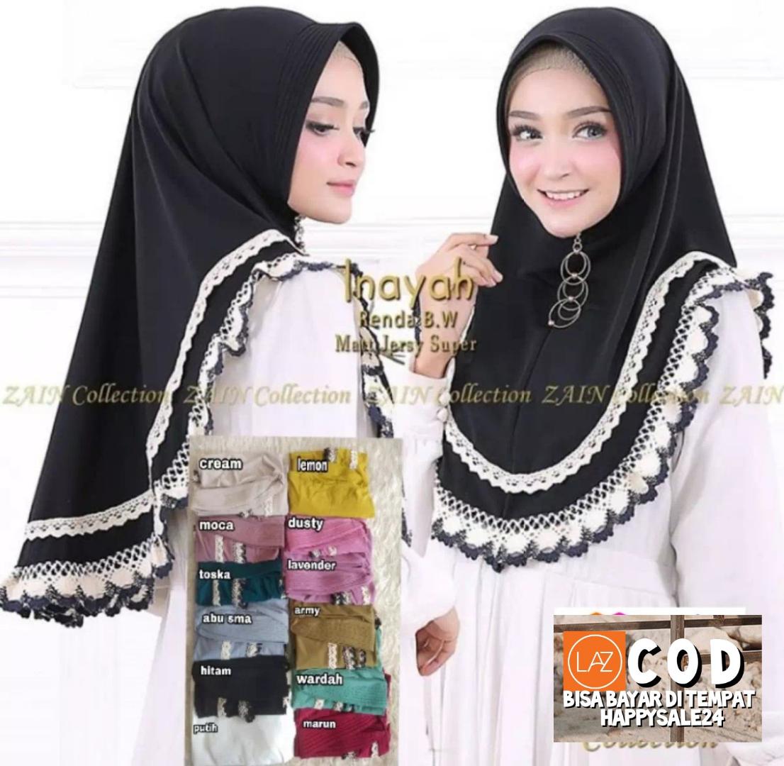 Hijab/ Jilbab Instan Jersey Jersey Model Bergo terbaru termurah dan terlaris 2020/ Kerudung Wanita Terbaru/ Inayah/ HAPPYSALE24
