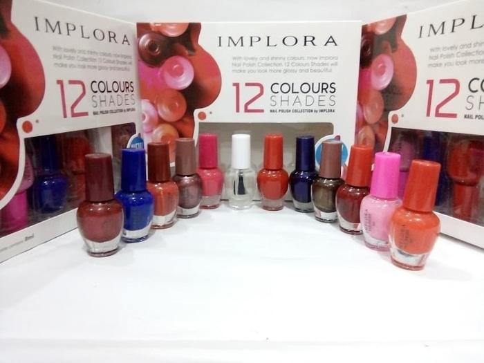 Implora Original Kutek Pewarna Kuku 12 Pcs / Implora Nail Polish Changing Color Kutek Warna Komplit 12 Warna By Royalshop.