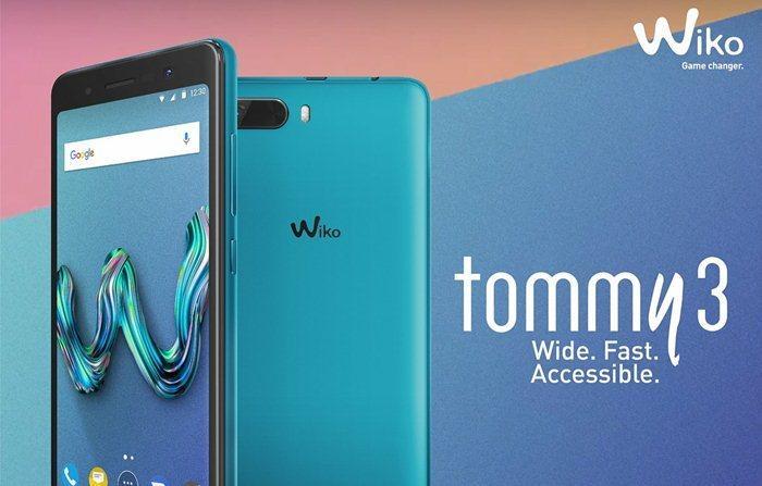 HANDPHONE WIKO SERIES TOMMY 3 4G LTE RAM 1GB ROM 16GB HP CAMERA 8MP+5MP LAYAR FULLSCREEN STYLISH