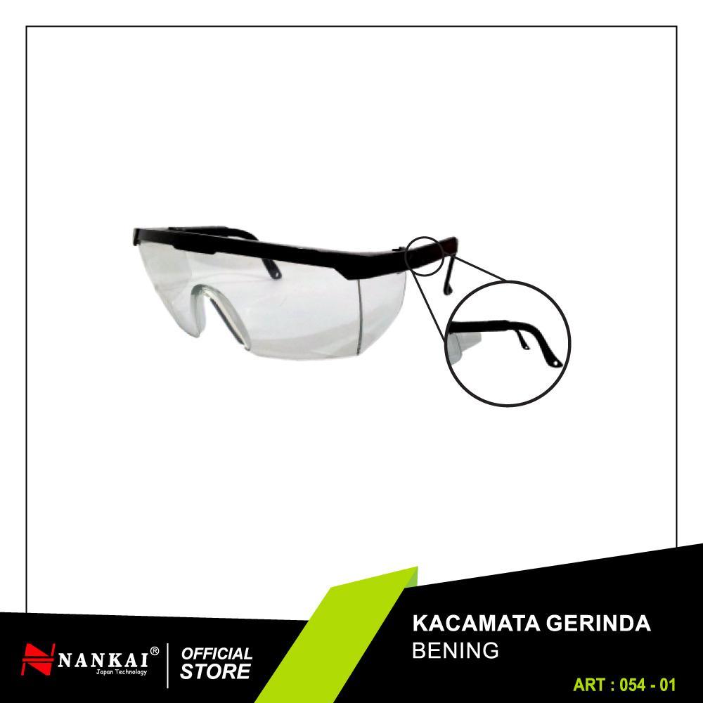 Perkakas Nankai Safety Glasses - Kacamata Safety Keamanan Gerinda Bening  Perkakas Tool d7ab51d593