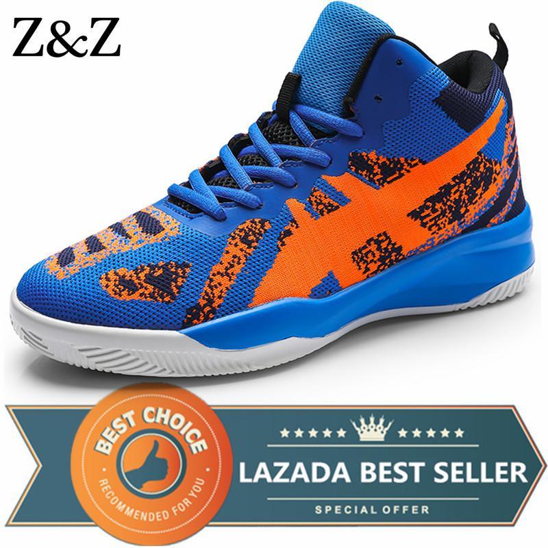 Z Z Pria Sepatu Basket Bantalan Udara Cahaya Sepatu Kets Bola Basket Outdoor Sepatu Olahraga