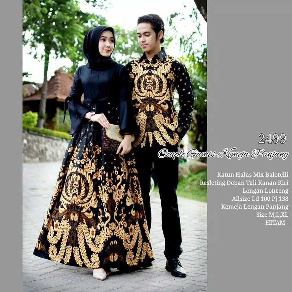 Termurah - Batik Couple - Baju Muslim Wanita Terbaru 2018 - Couple Batik - Baju Batik Sarimbit - Baju Batik Modern - Batik Kondangan - Baju Batik Couple Gamis Kemeja Panjang 2499 By Batik Indo Store.