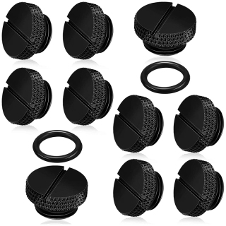 10 Pieces Black G 1 4 Inch Plug Fitting with O- Ring Water Stop Plug for Computer Water Cooling System thumbnail
