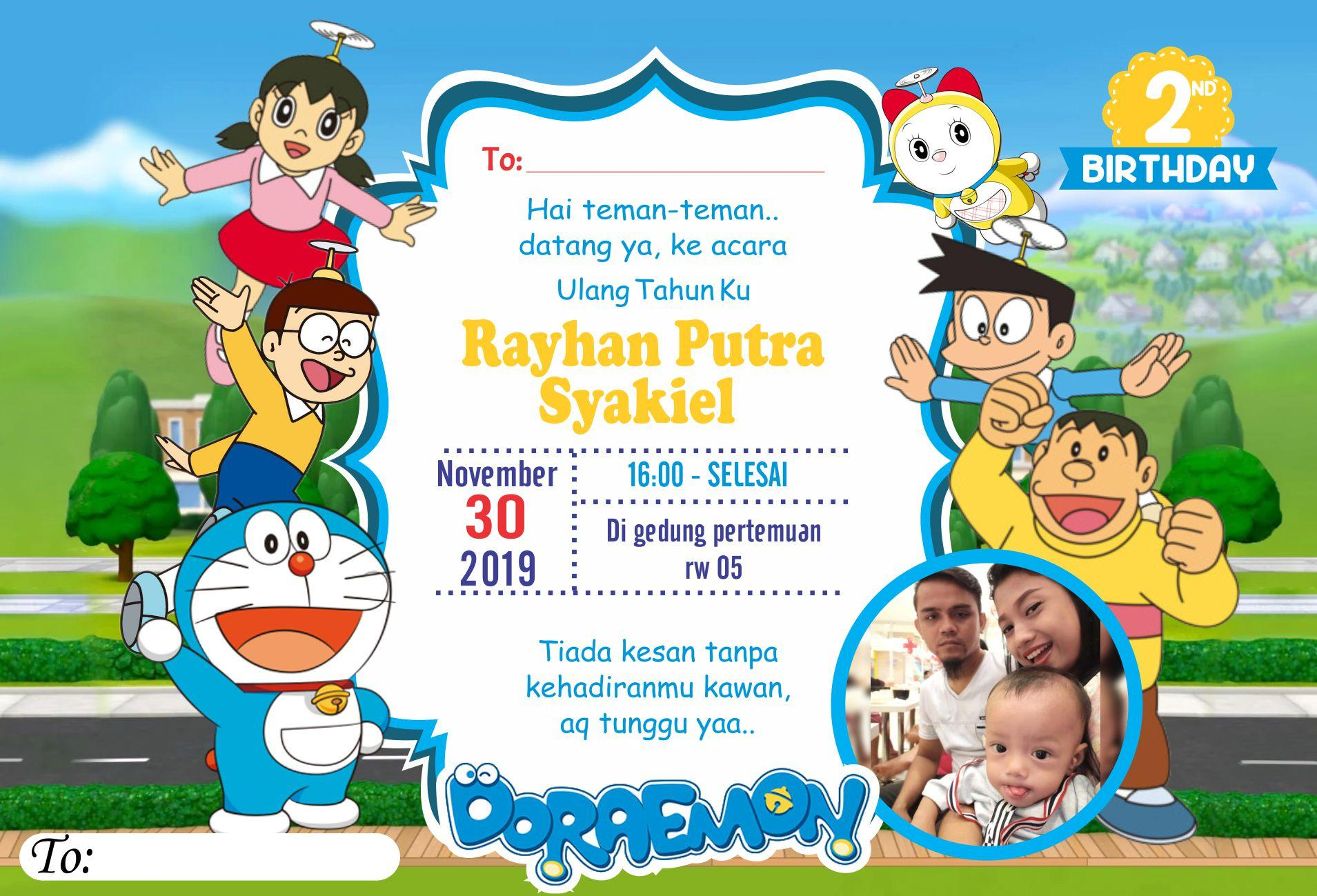 Undangan Ultah Doraemon Ilustrasi