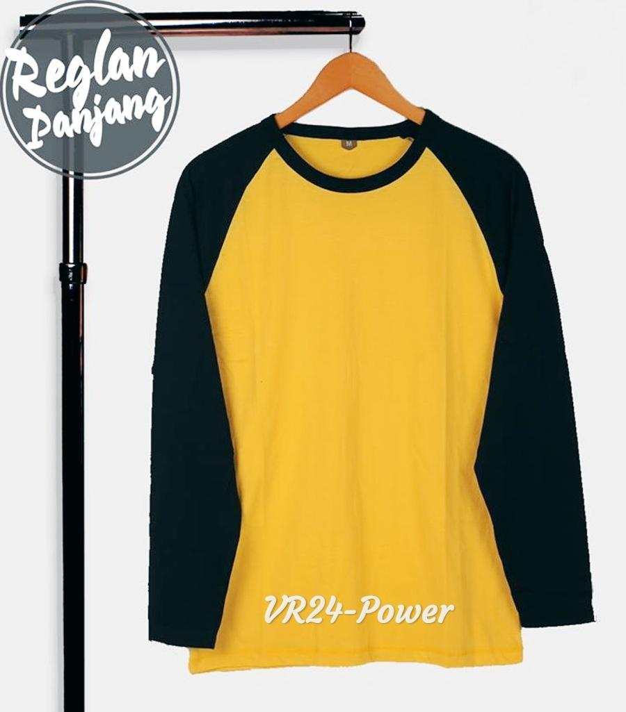 VR24.Power Kaos Raglan TShirt Lengan Panjang Pria Dan Wanita Multiwarna
