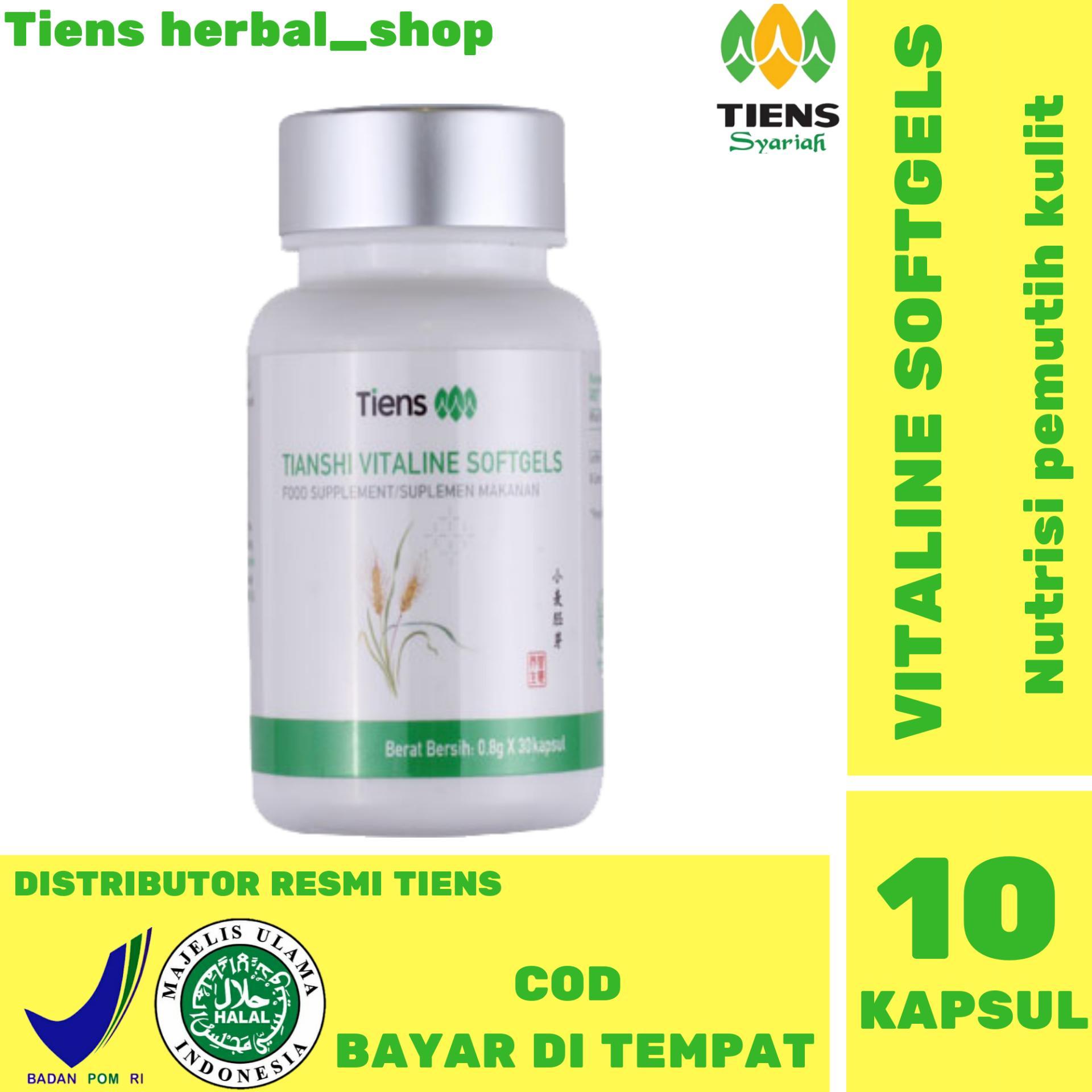 Tiens Suplemen Pemutih Wajah & Tubuh Vitaline Vitamin E - 10 Kapsul HARGA PROMO tiens herbal_shop