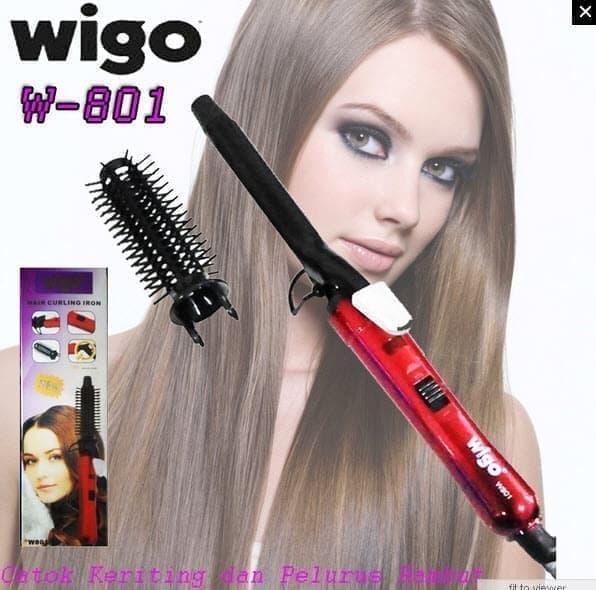 Wigo W 801 Hair Curling Iron - Catok Keriting dan Pelurus Rambut
