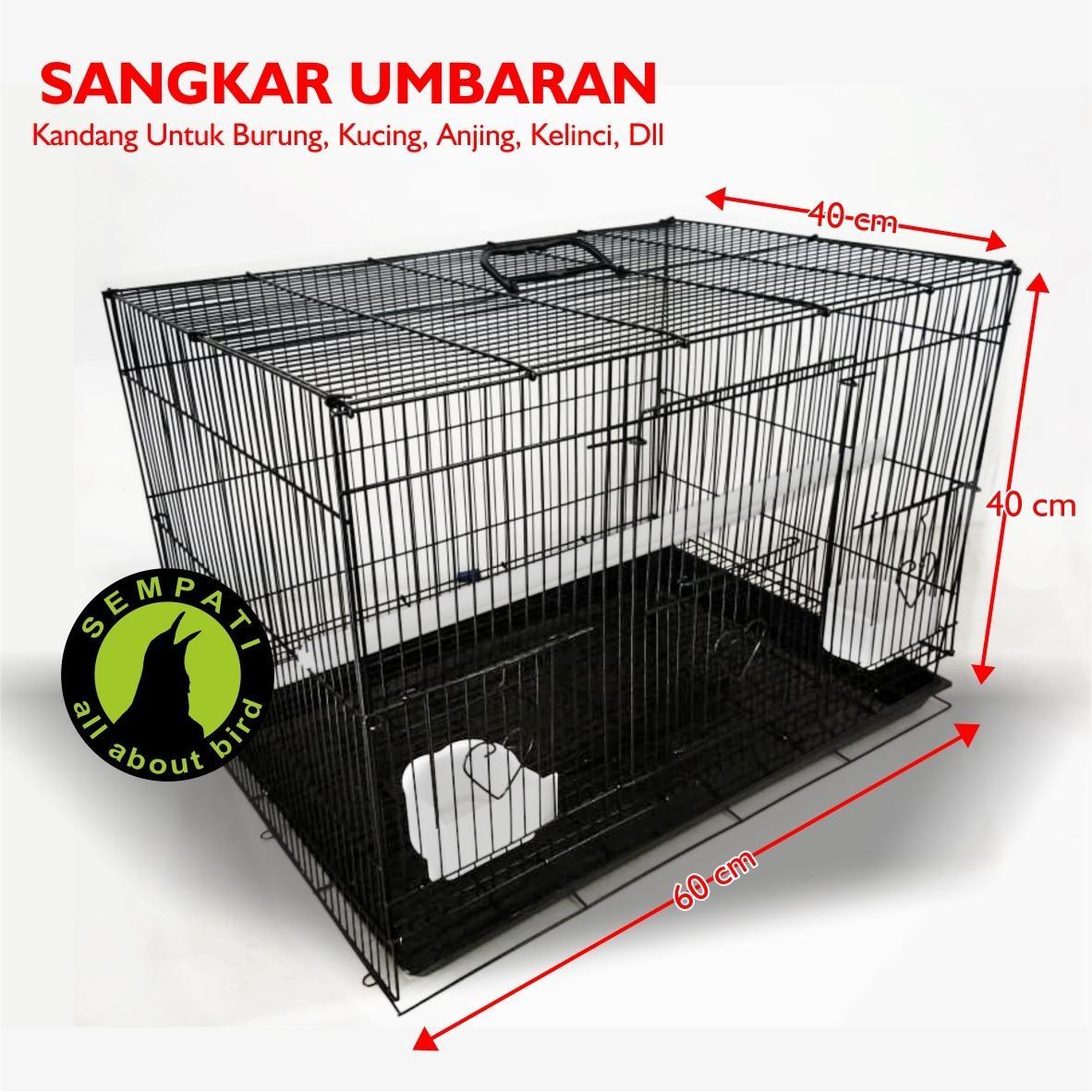 Sangkar Kandang Besi Umbaran Tebal Lipat Kotak Untuk Ternak Burung Lovebird Kucing Kelinci Anjing