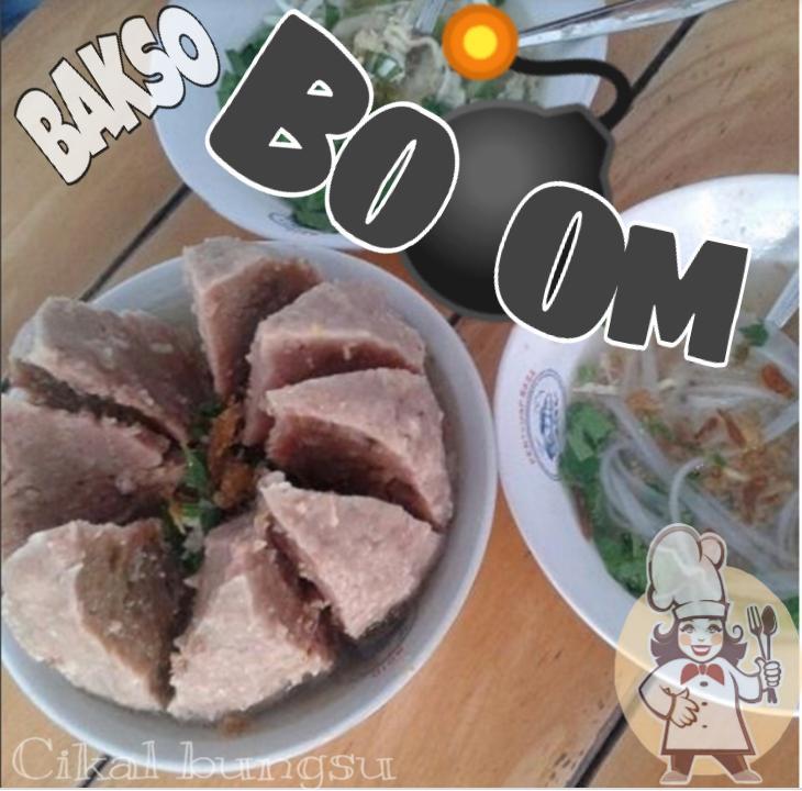 Promo bakso jumbo /baso boom isi daging sapi cingcang, 1 baso cukup untuk 3 - 4 orang