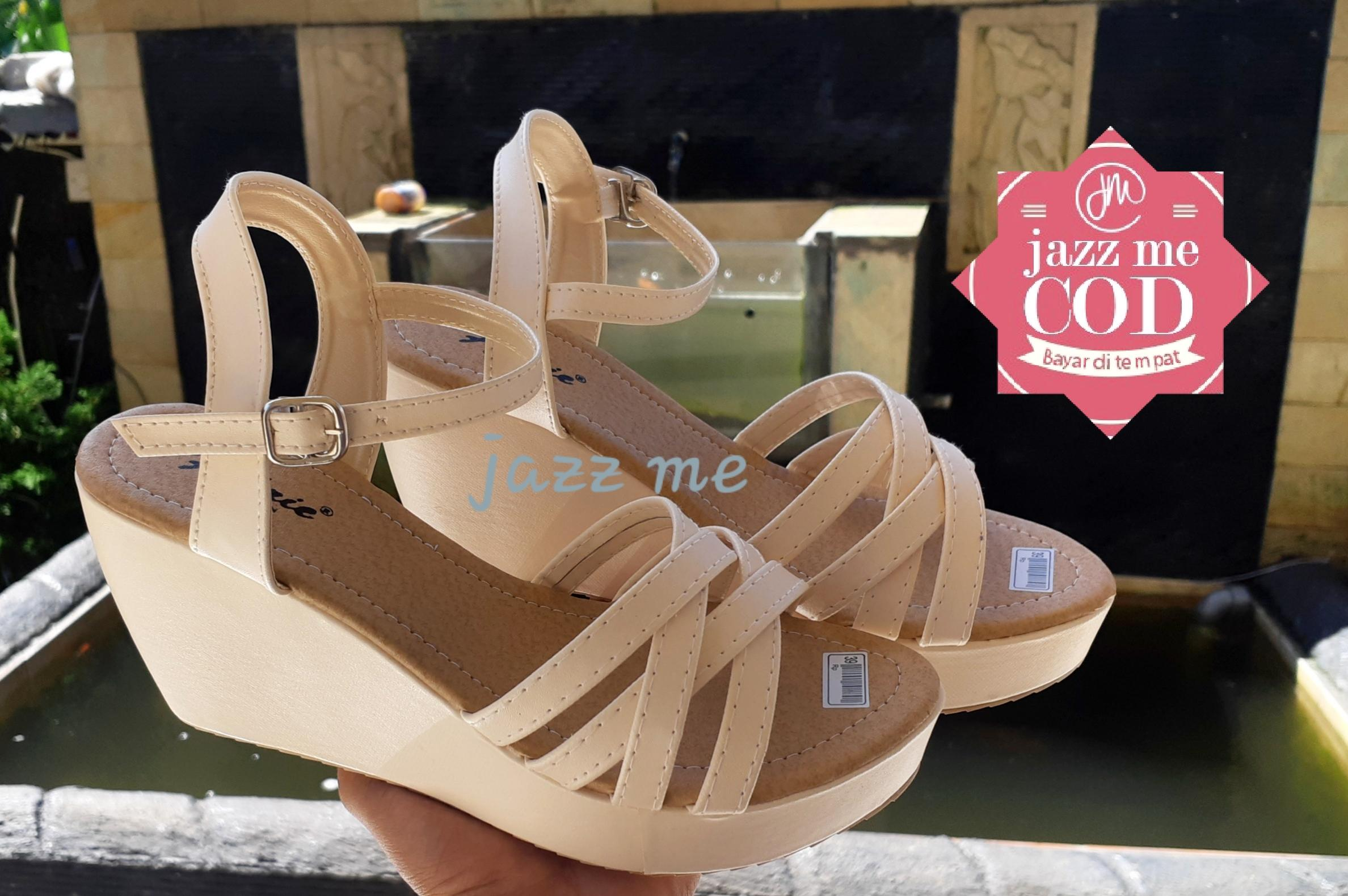 Jazz Me New Sendal Wedges Silang Fh-Oo1 By Jazz Me.