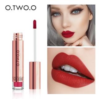 O.TWO.O Makeup Lip Cream 12 Warna Nude Anti Air Matte Liquide Lipstick Long Lasting Lip Make Up lipstik thumbnail