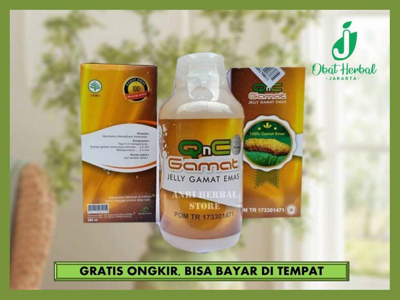 Qnc Jelly Gamat Produk Asli  100% -  jely gamat Gold-Obat Herbal Alami (Produk Bergaransi) Obat Herbal Jely Jelly jeli Gamat Qnc (Produk Bergaransi)