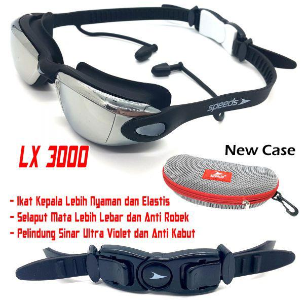 Kacamata Renang Speeds Lx3000 Anti Fog Dan Uv Protection By Gudang Olahraga.