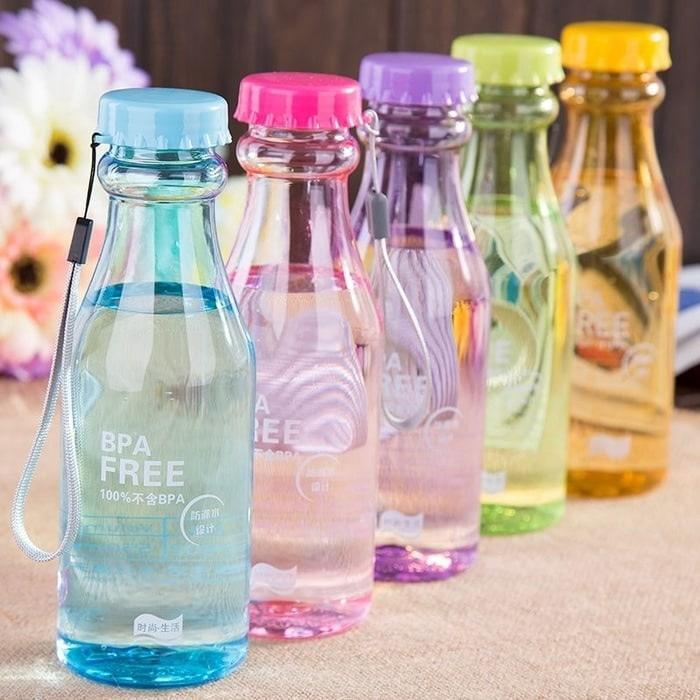 Water Bottle Bening / Botol Minum Soda BPA FREE Transparan HIGH QUALITY !! 99Seller