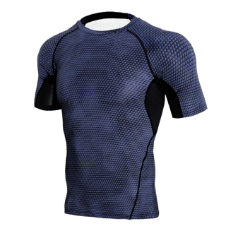 Fitness Compression Tight Gym T-Shirt Men Sports Quick Dry Tops Sportswear Soccer Jerseys Men Short Sleeve Shirt thumbnail