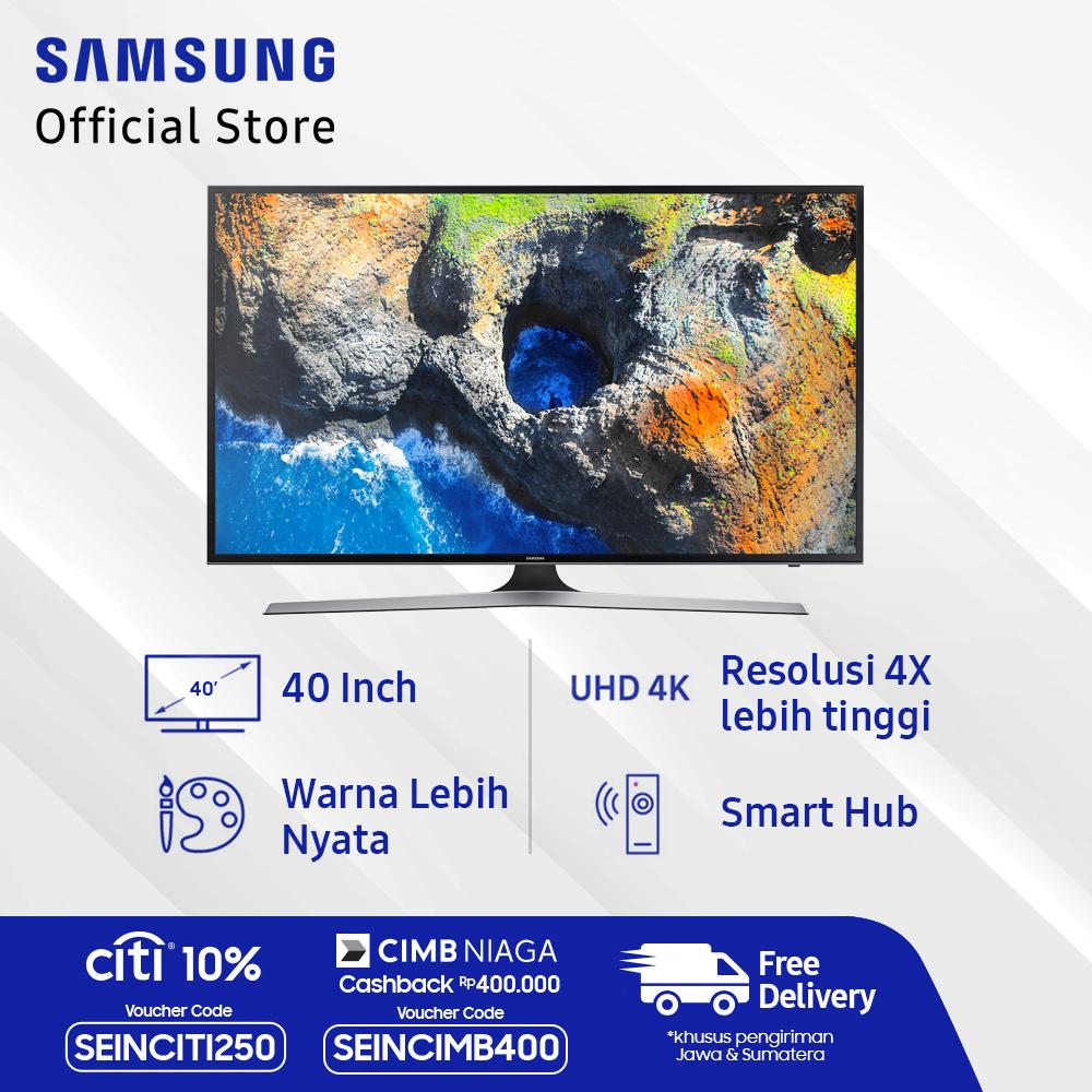 Samsung 40 inch UHD Digital Smart LED TV - Hitam (Model UA40MU6100)