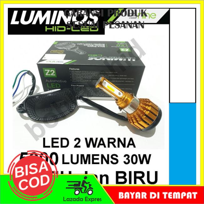 COD!! DISKON!!Lampu Motor LED Honda Beat ESP FI LUMINOS Z2 2 Warna Putih dan Biru || Lampu Motor || Bhid1