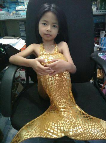 dress mermaid sisik putri ikan duyung anak