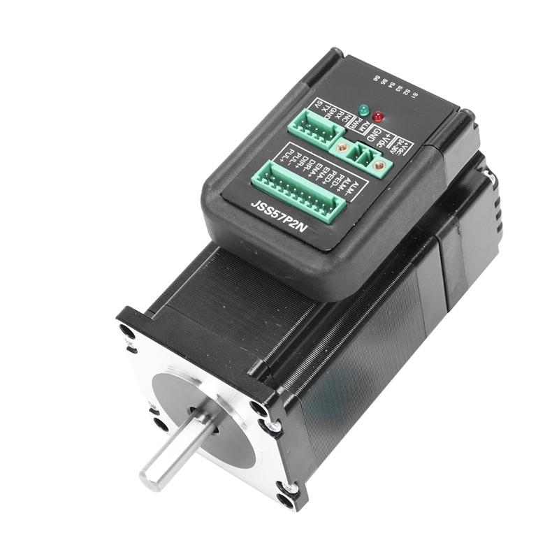 DC24V-48V JSS57P2N 2.2N.m Integrated Digital Hybrid Servo Shaft, 200KHZ Closed-loop Stepper Motor, Motor Drive Integrated Hybrid Servo Drive System
