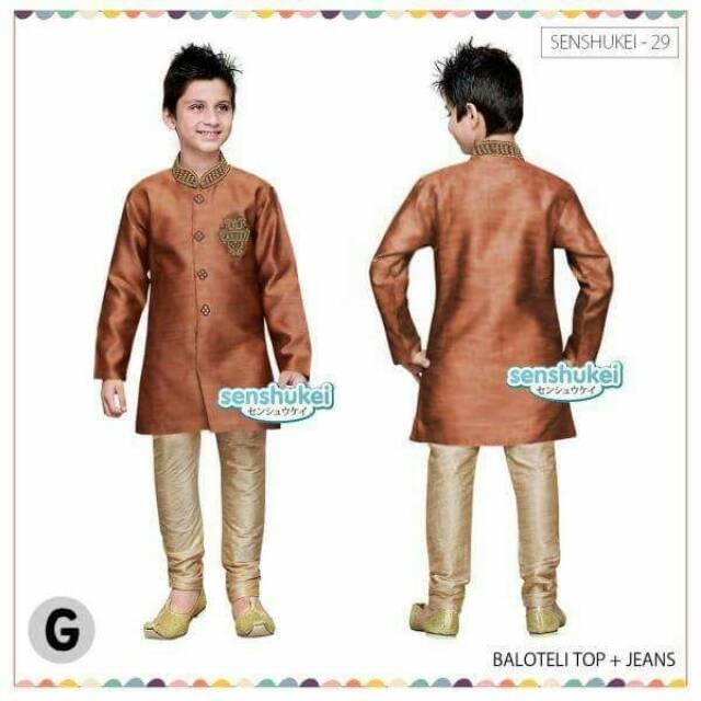 Sale!!! Baju Koko Anak India Brand Senahukei 29G Pakaian Anak Laki Laki Baju Lebaran Anak Cowok
