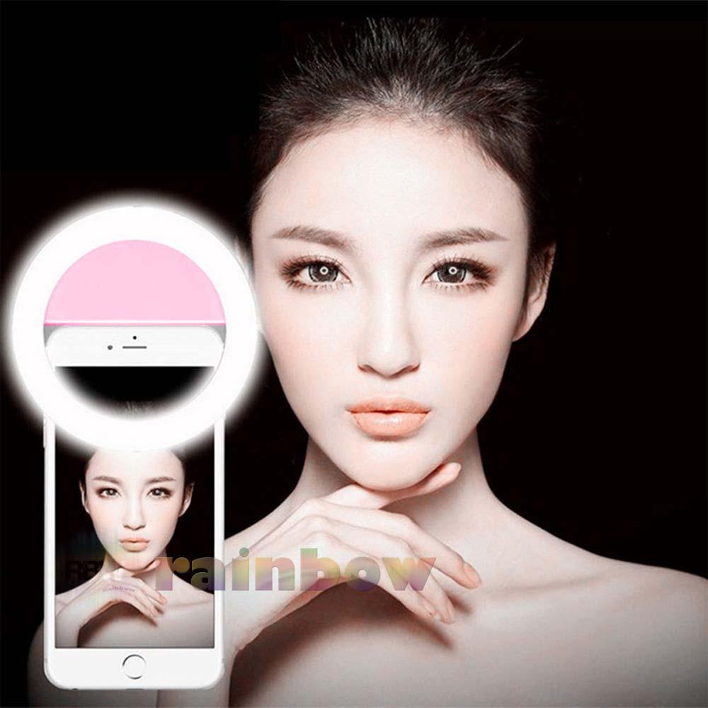 Lampu Selfie 36 Led Portable Clip - Lampu Selfie Battery - Ring Light Lampu Selfie Ring Terbaik Ringlight Eye Light Live Show Lampu Selfie Untuk Semua Handphone Komputer Tablet - Random (1pcs) By Rainbow.