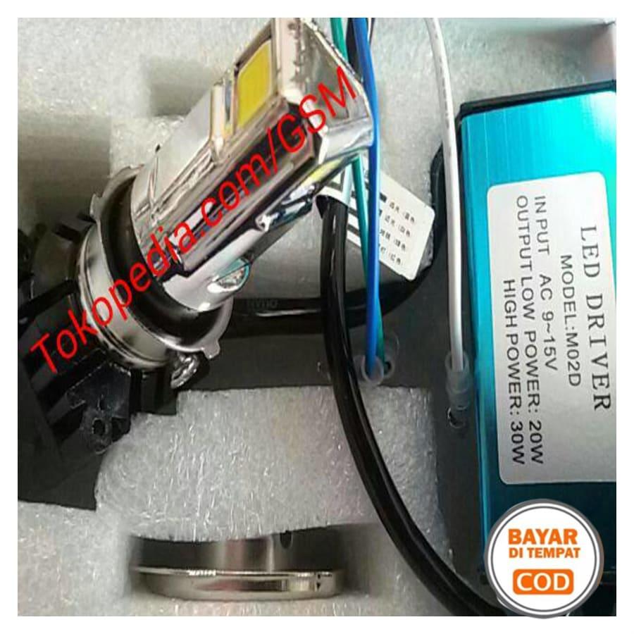READY STOCK - Lampu utama LED 3 sisi mata arus AC DC pnp semua jenis headlamp motor