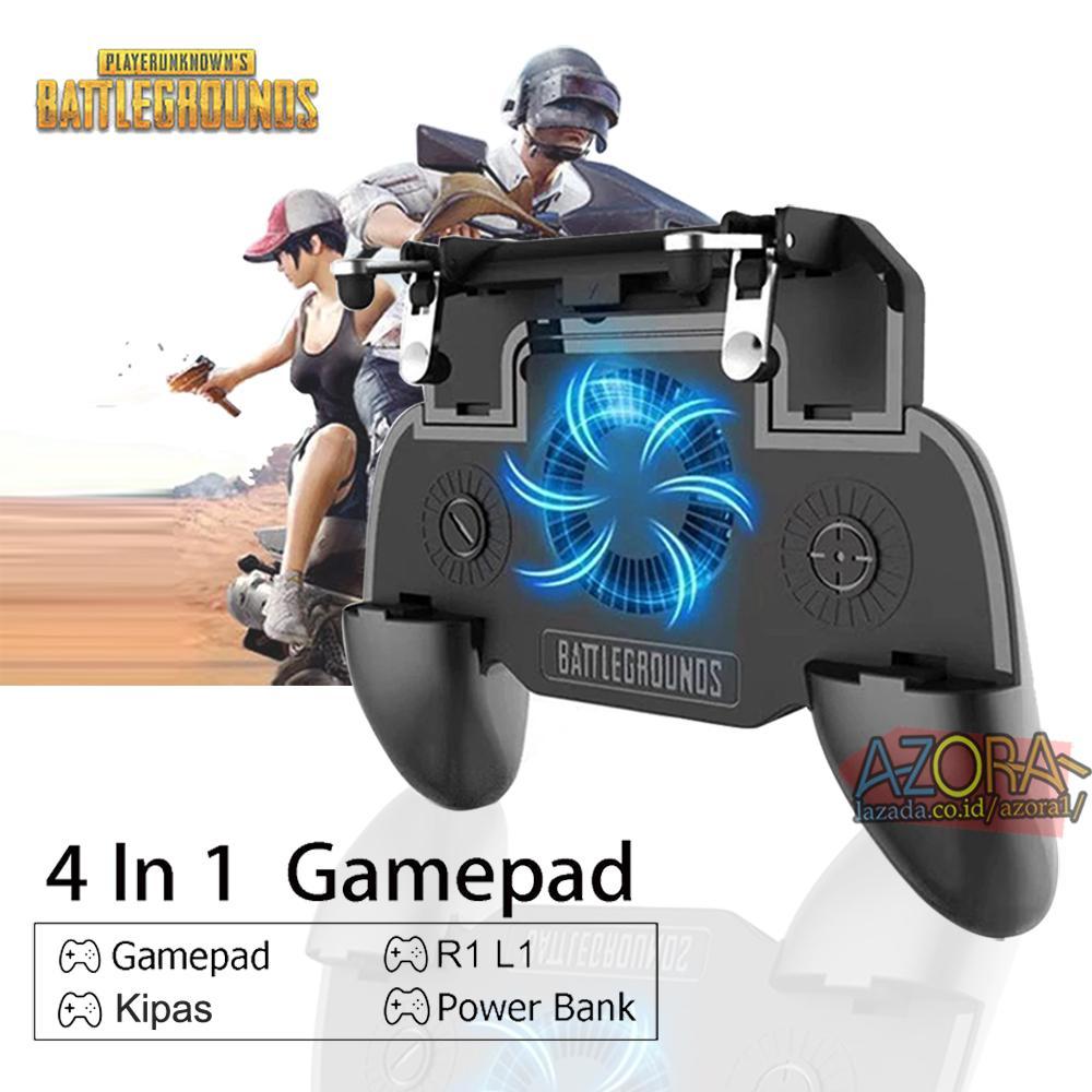 GamePad Joystick SR for PUBG Mobile Controller Cooler Cooling Fan Kipas L1 R1 Shooter Trigger Fires