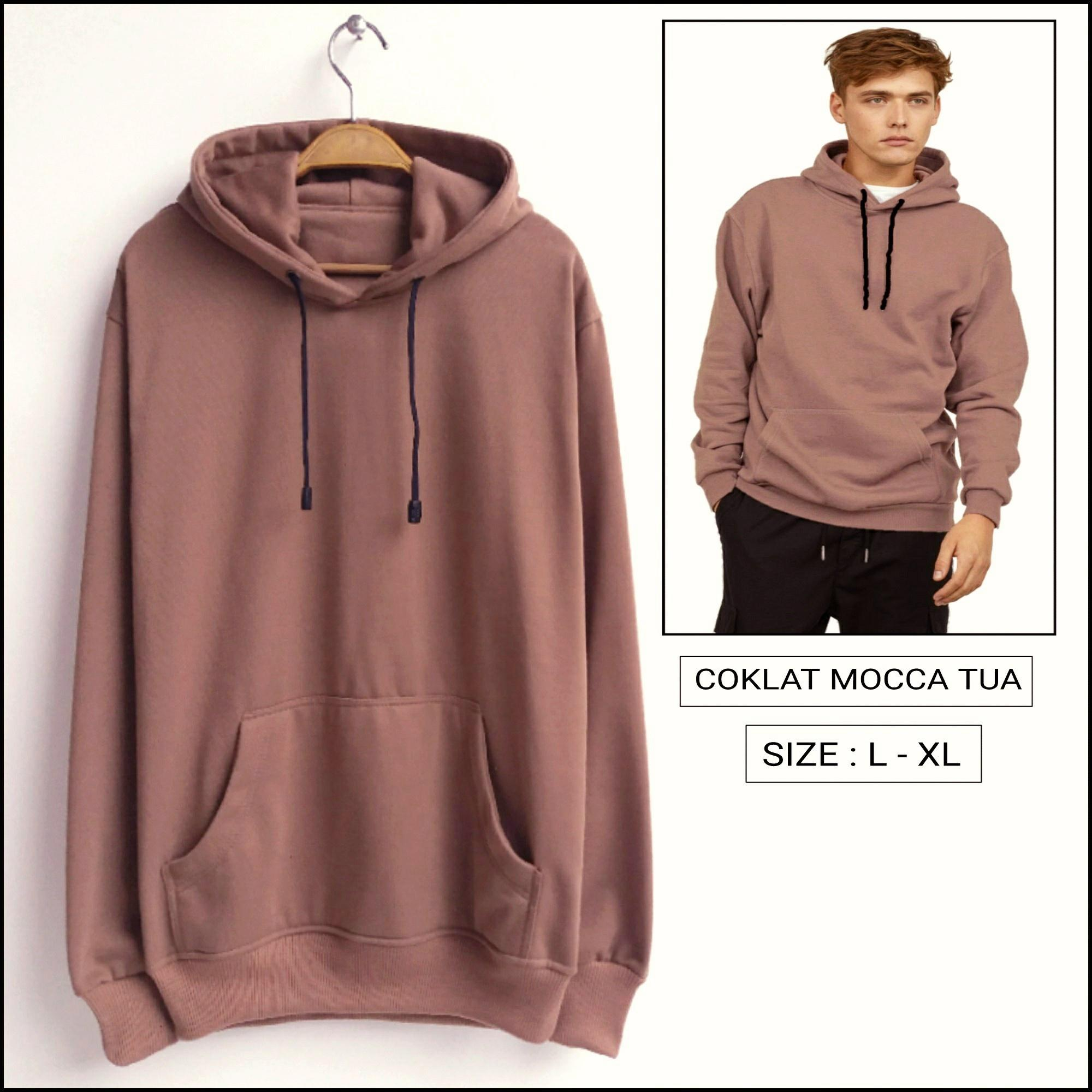SWEATER HOODIE JUMPER POLOS COKLAT MOCCA