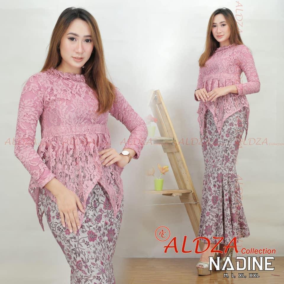 NADINE atasan baju kebaya modern /kebaya tradisional,kebaya pakaian wanita/kebaya brukat renda
