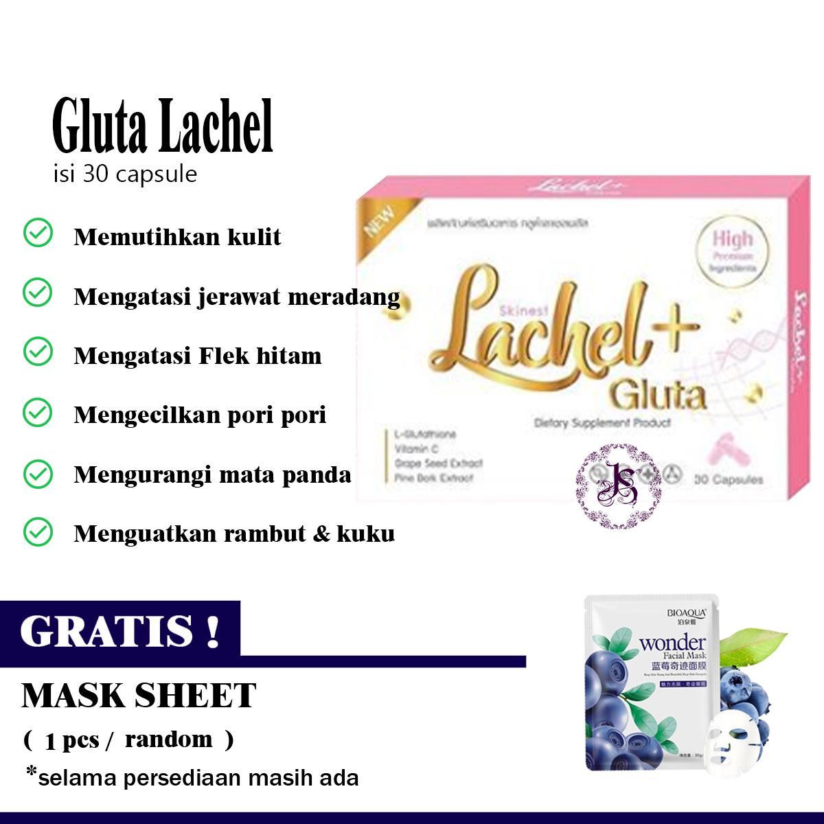 Pemutih Kulit Gluta Lachel Isi 30 Capsule Original Thailand By Joanna Secrets By Joanna Secrets.