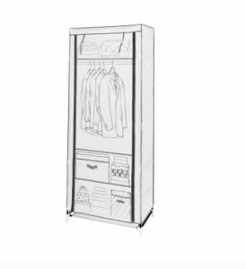 SALE ACE HARDWARE INFORMA Lemari Pakaian Baju Lipat - Putih