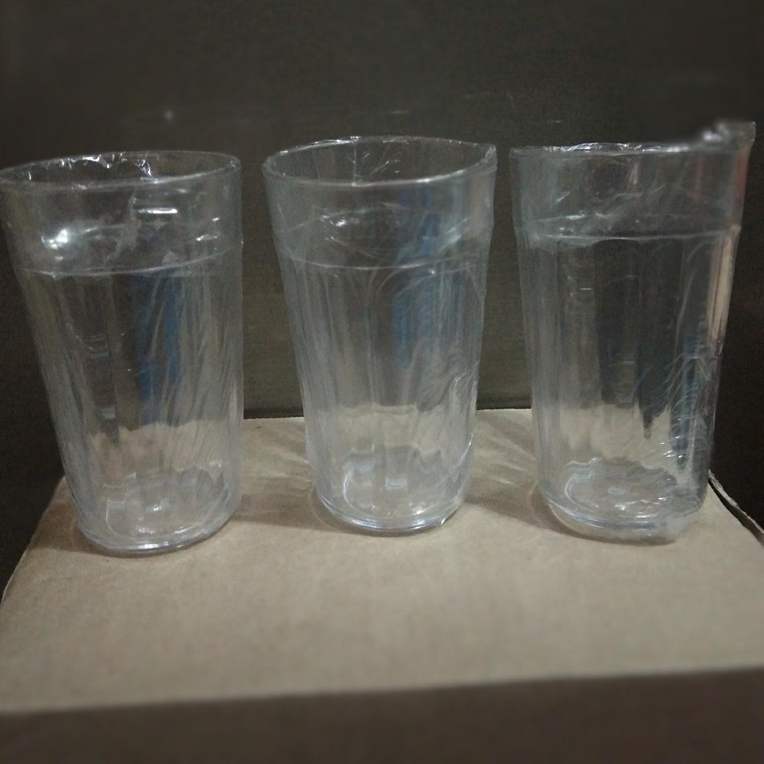 Gelas Plastik Bening Murah Harga Grosir 3pcs By Nawan36.