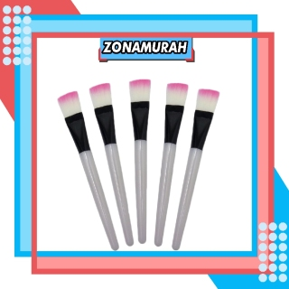 ZonaMurah R033 READY STOCK KUAS MAKE UP BULU PINK BRUSH MAKE UP KUAS KUAS MASKER PER PCS SATUAN COD thumbnail