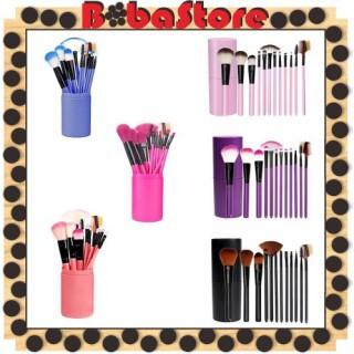 Bobastore - R034 Kuas Alat Makeup Kosmetik Make Up Pro Rias Brush 12in1 12 Set Tube Tabung Penyimpanan KTW thumbnail