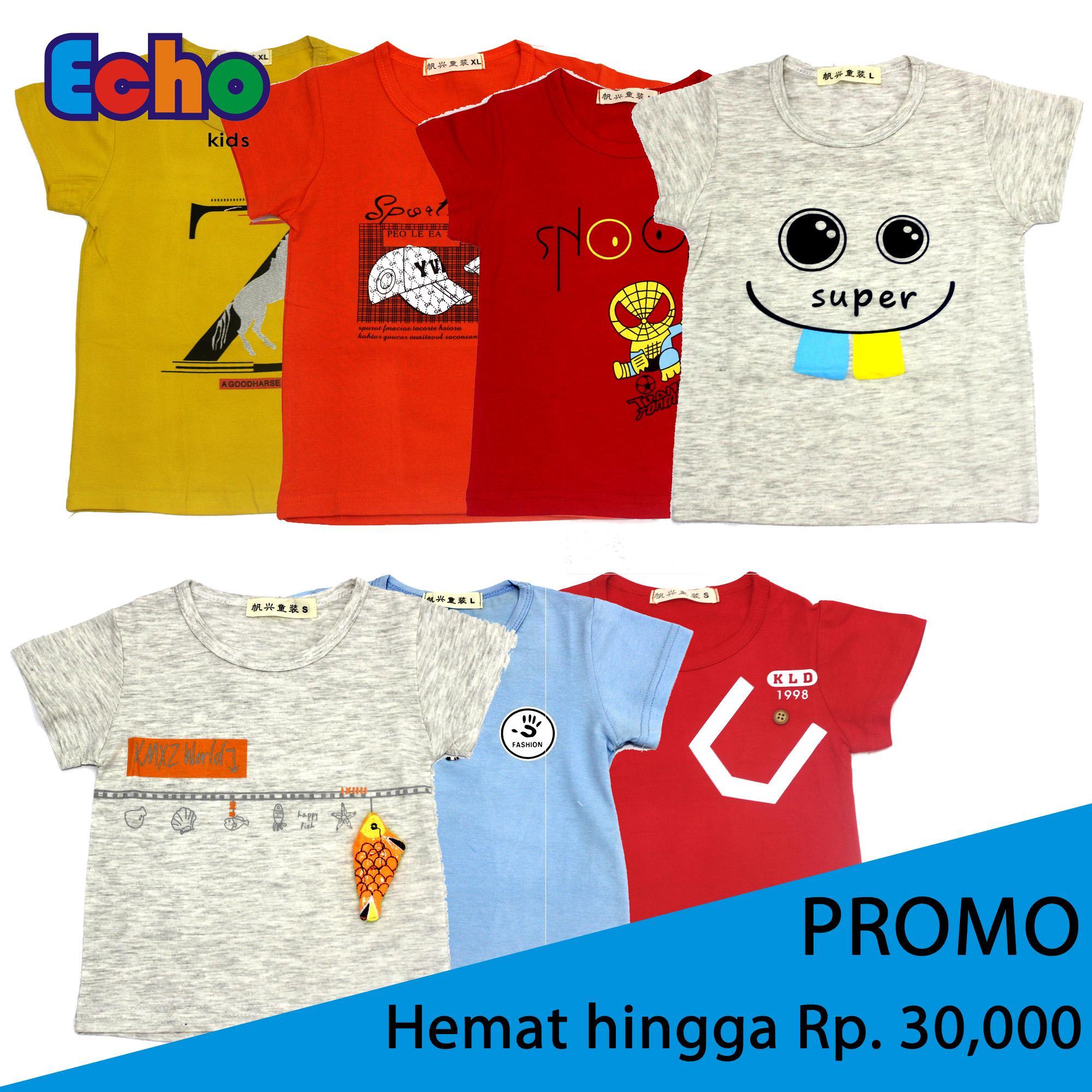 2-10 thn - Echo Kids - PROMO CUC GUDANG Pakaian Baju Kaos Katun Anak 6f72fe22ef