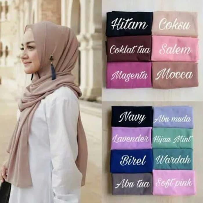 Jilbab Pashmina Sabyan Diamond Italiano Hijab Segi Empat hijab panjang kerudung suryani maula maulana