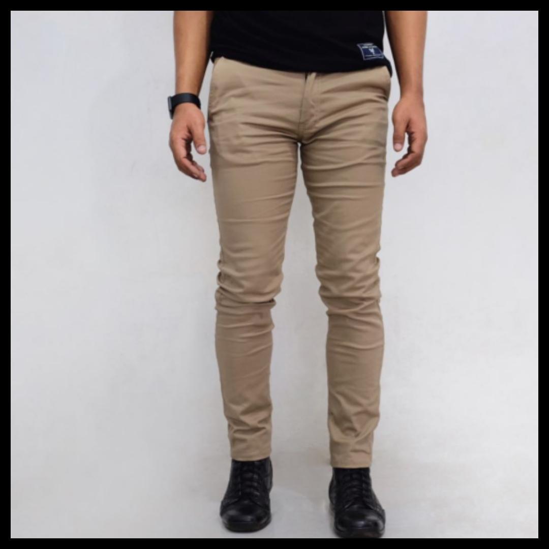 celana panjang chino pria slimfit murah meriah/celana panjang katun