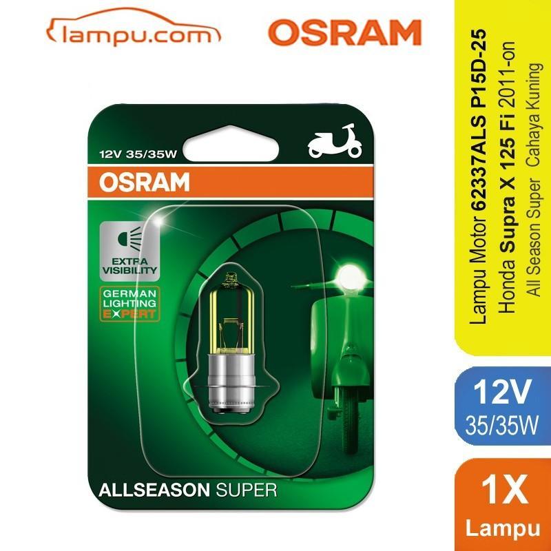 Osram Lampu Depan Motor Honda Supra X 125 Fi 2011-on - 62337ALS - All Season Super