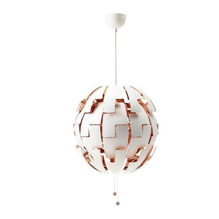 G kitchen IKEA PS 2014 Lampu Gantung Diameter 52 cm - Putih, warna tembaga MP