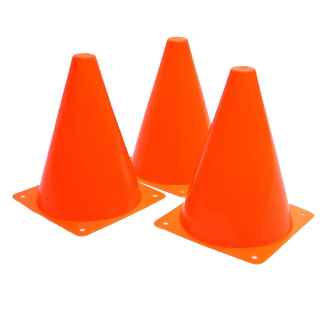 Plastic Traffic Cones - 12 Pack Of Multipurpose Construction Theme Party Sports Activity Cones For Kids Outdoor And Indoor Gaming And Festive Events By Ertic.