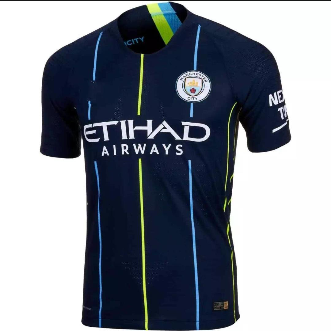 0ef9b3fe1a4 Jersey Bola Man City Away 2018   2019