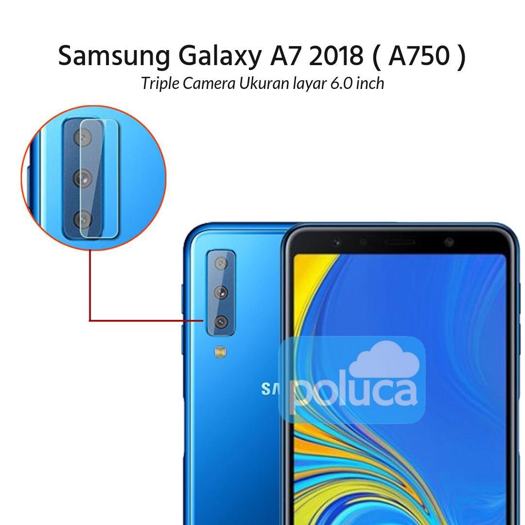 Poluca Tempered Glass Screen Protetor Camera Anti Gores Kamera Samsung Galaxy A7 2018 ( A750 ) Triple Camera Layar 6.0 inch - Clear