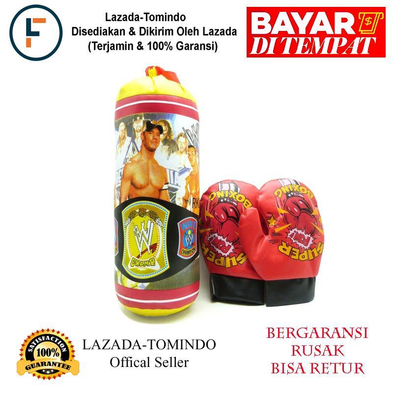 Tomindo Mainan Anak Laki Laki - Boxing Set Champ / Punching Bag / Samsak Sarung Tinju Usa / Mainan Anak / Mainan Olahraga By Tomindo.