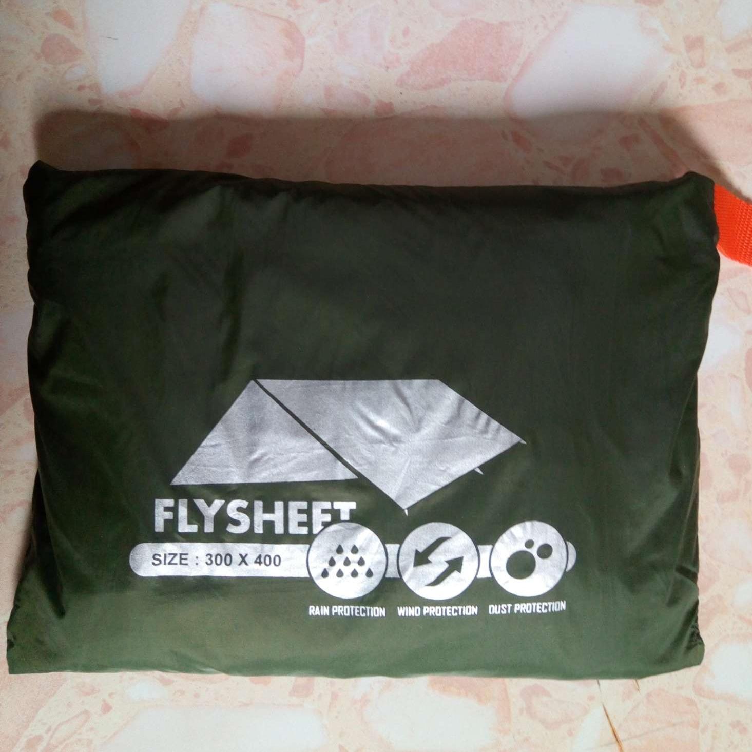 Flysheet 3 x 4 meter - lapisan tenda waterproof - kain waterproof - tarp bivak