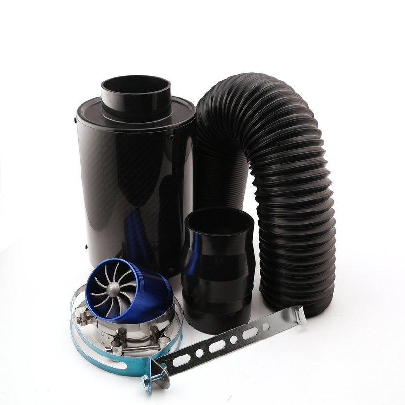 Top Serat Karbon Hitam Asupan Udara Dingin Sistem 3 Inch Seri Kotak Penyaring Untuk Bmw By Topregal.