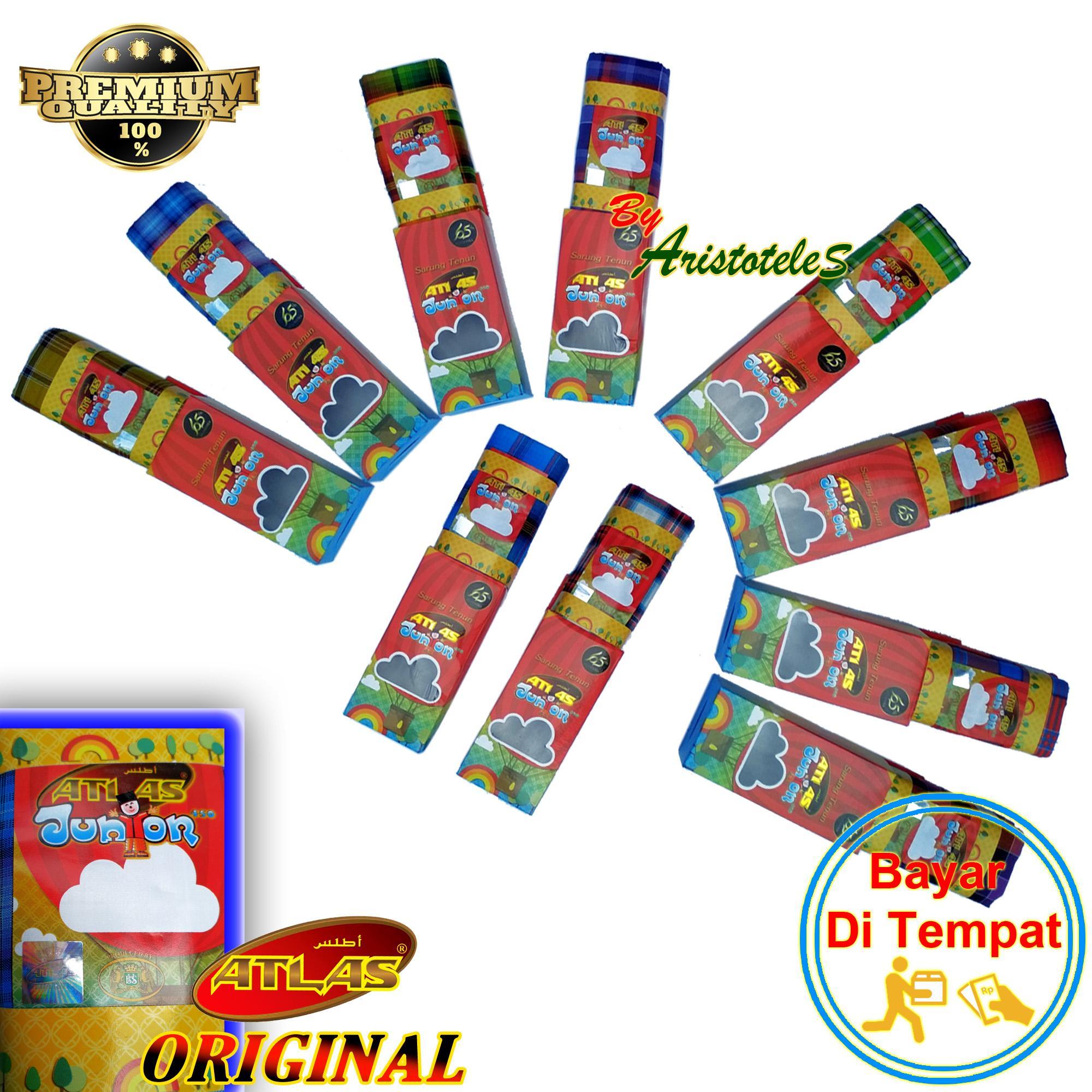 Sarung Atlas Original Junior 450 Sarung Tenun Anak Anak Multicolor