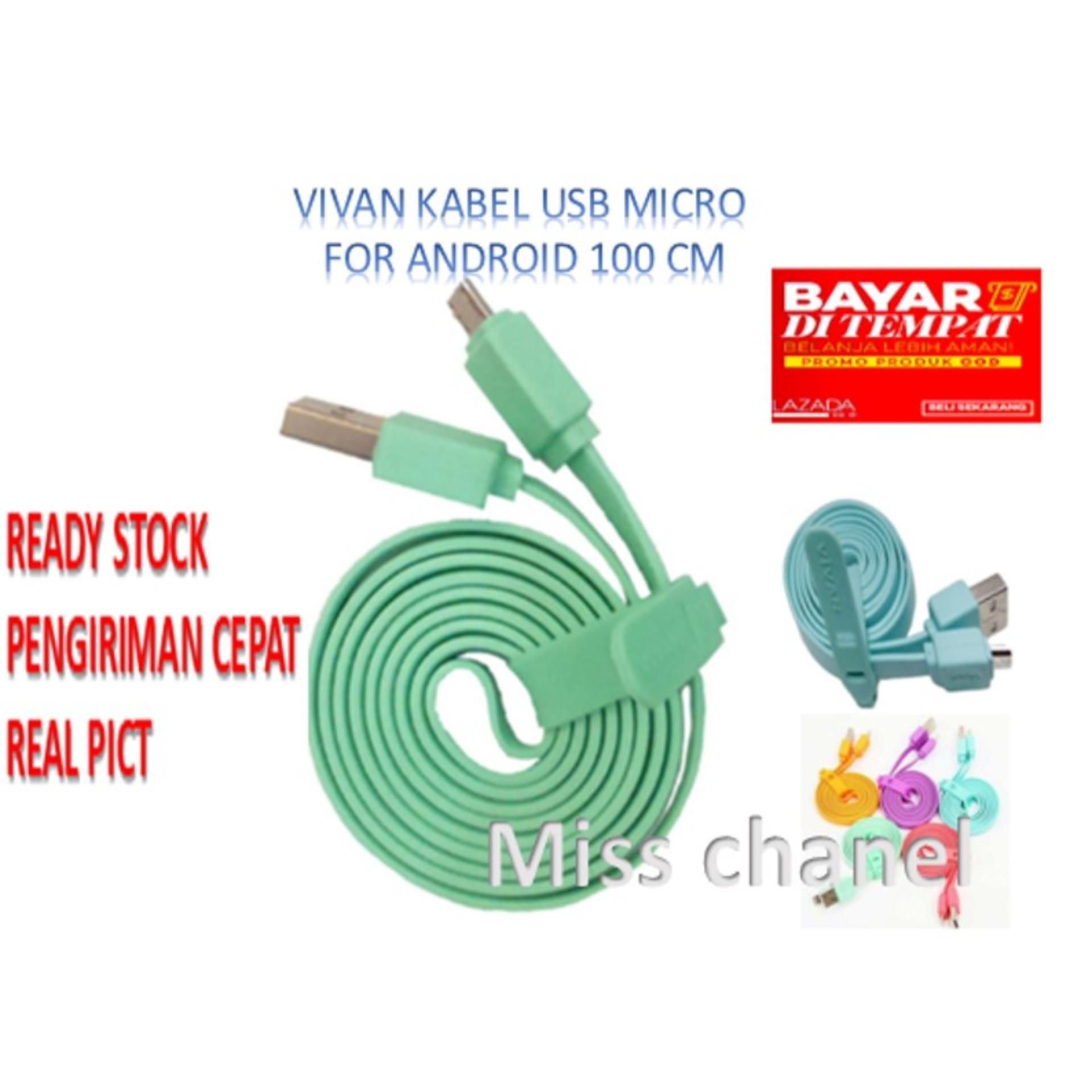 EMQ Vivan Kabel micro USB untuk data dan charger 100cm