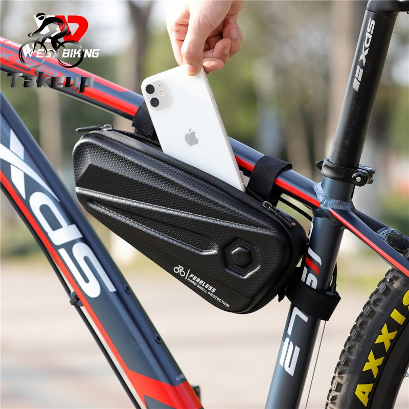 Bicycle waterproof bag triangle bag hard shell front beam bag riding equipment