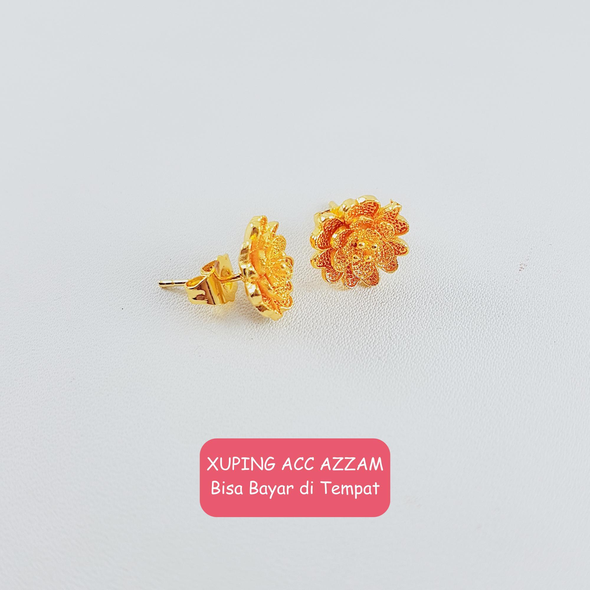 Anting Xuping Anting Cantik Anting Emas Anting Gold Kait Stud Fashion Wanita 14 Perhiasan Pengganti Emas